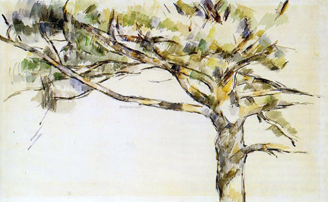Paul Cezanne Large PIne (study) - Hand Painted Oil Painting