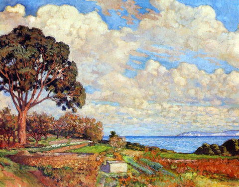 Theo Van Rysselberghe Large Tree near the Sea - Hand Painted Oil Painting