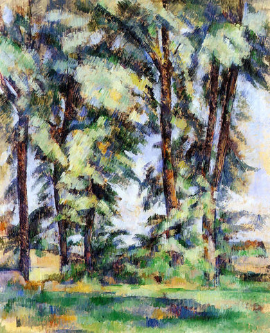 Paul Cezanne Large Trees at Jas de Bouffan - Hand Painted Oil Painting