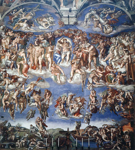 Michelangelo Buonarroti Last Judgment - Hand Painted Oil Painting
