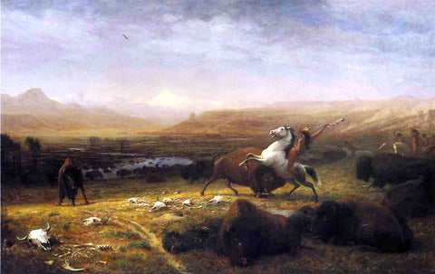 Alfred Jacob Miller Last of the Buffalo - Hand Painted Oil Painting
