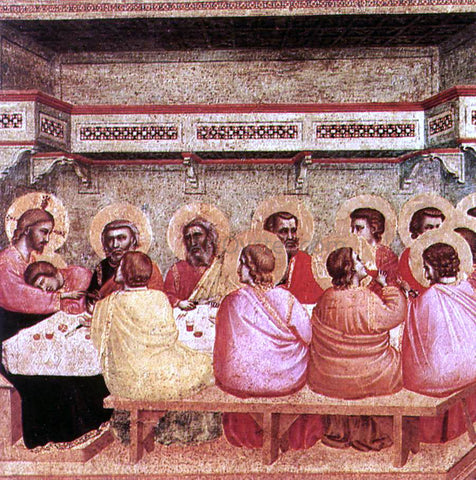 Giotto Di Bondone Last Supper - Hand Painted Oil Painting