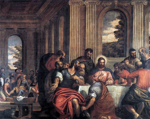 Benedetto Caliari Last Supper - Hand Painted Oil Painting