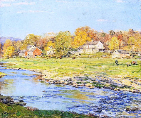 Willard Leroy Metcalf Late Afternoon in October - Hand Painted Oil Painting