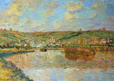 Claude Oscar Monet Late Afternoon in Vetheuil - Hand Painted Oil Painting
