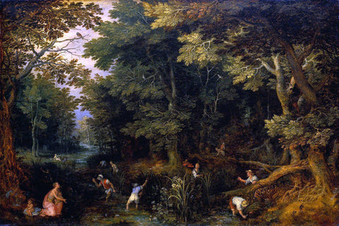 The Elder Jan Brueghel Latona and the Lycian Peasants - Hand Painted Oil Painting