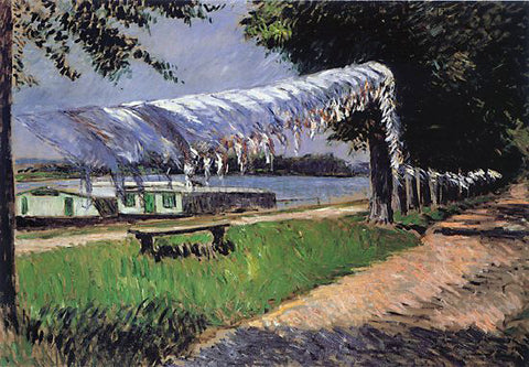 Gustave Caillebotte Laundry Drying - Hand Painted Oil Painting