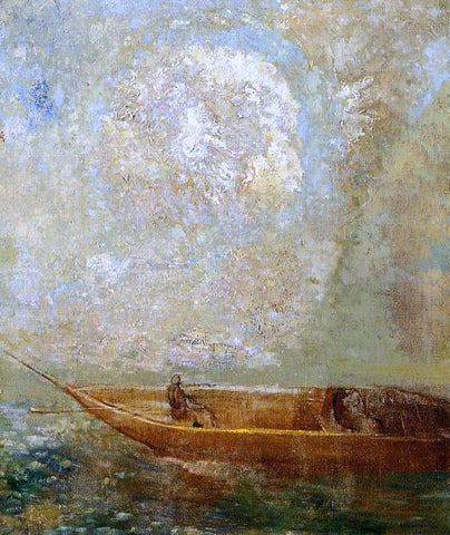 Odilon Redon Le Barque - Hand Painted Oil Painting
