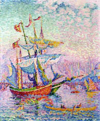 Paul Signac Le Corne d'Or, Le Pont - Hand Painted Oil Painting