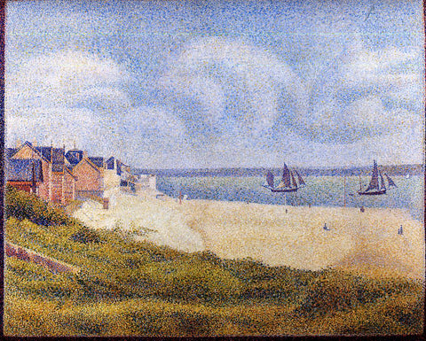 Georges Seurat Le Crotoy, Downstream - Hand Painted Oil Painting