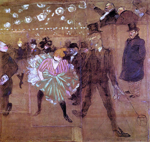 Henri De Toulouse-Lautrec Le Goulue Dancing with Valentin-le-Desosse - Hand Painted Oil Painting