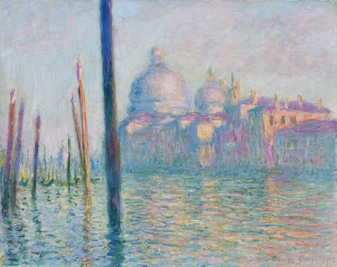 Claude Oscar Monet Le Grand Canal - Hand Painted Oil Painting