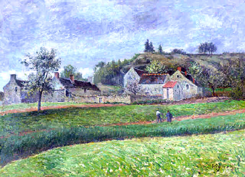 Victor Vignon Le Hameau au Printemps - Hand Painted Oil Painting
