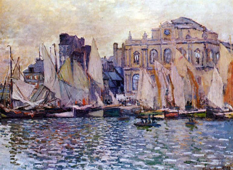 Claude Oscar Monet Le Havre Museum - Hand Painted Oil Painting