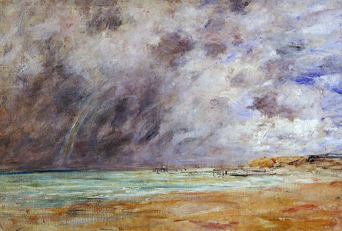 Eugene-Louis Boudin Le Havre, Stormy Skies over the Estuary - Hand Painted Oil Painting