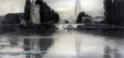 Fernand Khnopff Le Lac D'Amour, Bruges - Hand Painted Oil Painting