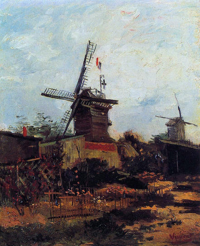 Vincent Van Gogh Le Moulin de Blute-Fin - Hand Painted Oil Painting