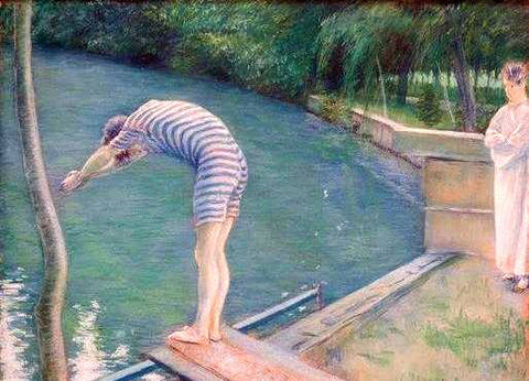 Gustave Caillebotte Le Nageur - Hand Painted Oil Painting