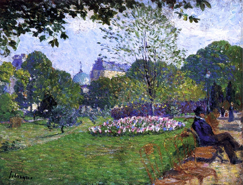 Henri Lebasque Le Parc de Saint-Cloud - Hand Painted Oil Painting
