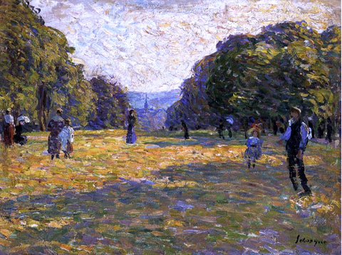 Henri Lebasque Le Parc Monceau - Hand Painted Oil Painting