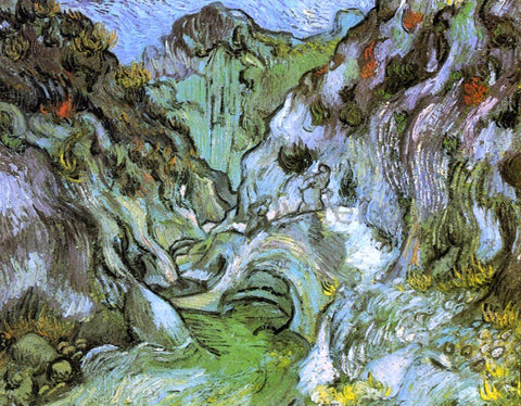 Vincent Van Gogh Le Peiroulets ravine - Hand Painted Oil Painting