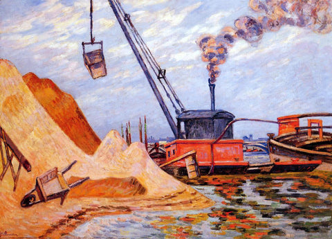 Armand Guillaumin Le Quai d'Austerlitz - Hand Painted Oil Painting