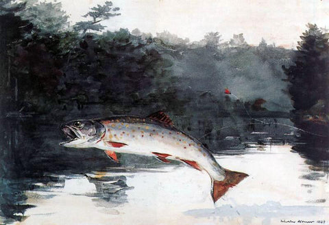 Winslow Homer Leaping Trout - Hand Painted Oil Painting