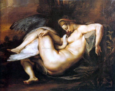 Peter Paul Rubens Leda and Swan - Hand Painted Oil Painting