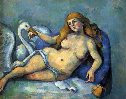 Paul Cezanne Leda and the Swan - Hand Painted Oil Painting