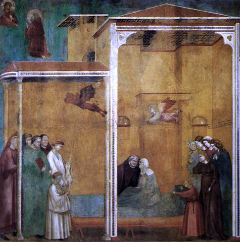 Master saint Cecilia Legend of St Francis: 27. Confession of a Woman Raised from the Dead - Hand Painted Oil Painting