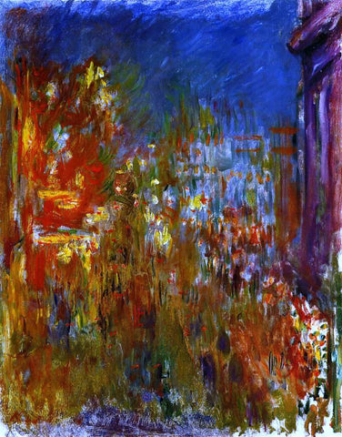 Claude Oscar Monet Leicester Square at Night - Hand Painted Oil Painting