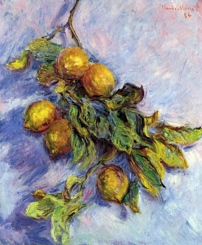 Claude Oscar Monet Lemons on a Branch - Hand Painted Oil Painting