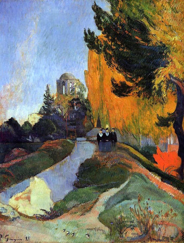 Paul Gauguin Les Alychamps - Hand Painted Oil Painting