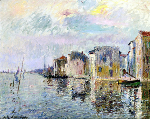 Gustave Loiseau Les Martigues - Hand Painted Oil Painting