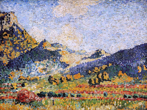 Henri Edmond Cross Les Petits, Montagnes Mauresques - Hand Painted Oil Painting