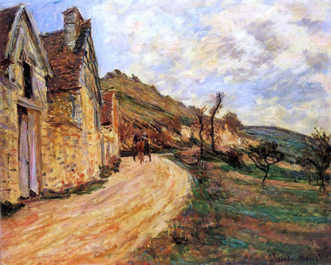 Claude Oscar Monet Les Roches at Falaise near Giverny - Hand Painted Oil Painting