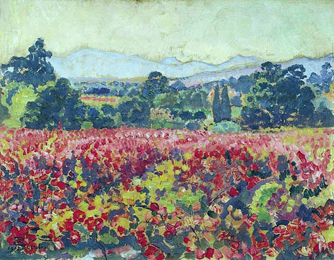 Theo Van Rysselberghe Les vignes a Saint-Clair - Hand Painted Oil Painting