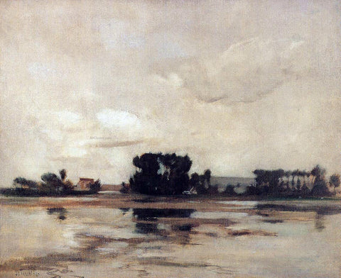 John Twachtman L'Etang (also known as The Pond) - Hand Painted Oil Painting