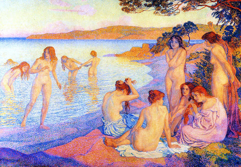 Theo Van Rysselberghe L'Heure Embrasee - Hand Painted Oil Painting