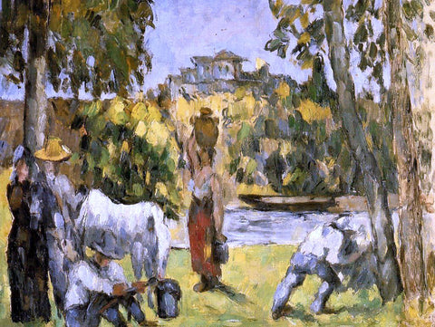 Paul Cezanne Life in the Fields - Hand Painted Oil Painting