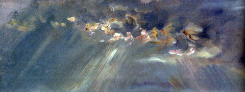 Paul Huet Light Breaking Through Clouds Pic 1 - Hand Painted Oil Painting