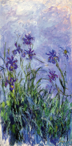 Claude Oscar Monet Lilac Irises - Hand Painted Oil Painting