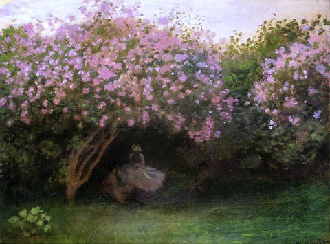 Claude Oscar Monet Lilacs, Grey Weather - Hand Painted Oil Painting