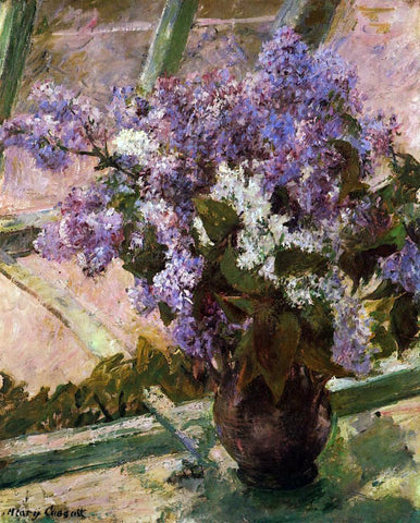 Mary Cassatt Lilacs in a Window - Hand Painted Oil Painting