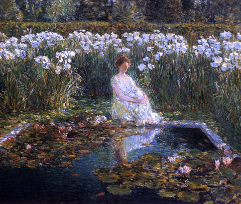 Frederick Childe Hassam Lilies - Hand Painted Oil Painting