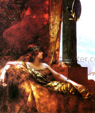 Jean-Joseph Benjamin Constant L'Imperatrice Theodora au Colisee - Hand Painted Oil Painting