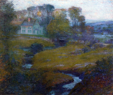 Robert Vonnoh Lingering Rain, Moon and Eventide - Hand Painted Oil Painting