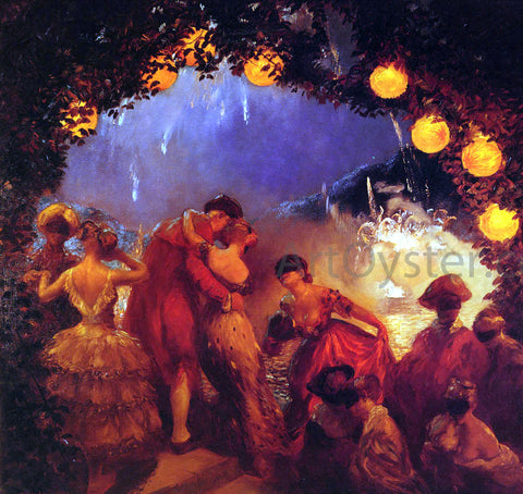 Gaston De Latouche L'Intrigue Nocturne - Hand Painted Oil Painting