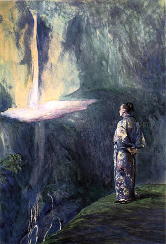 John La Farge Li-Tai-Pe and the Waterfall - Hand Painted Oil Painting