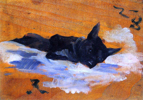 Henri De Toulouse-Lautrec LIttle Dog - Hand Painted Oil Painting